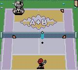Mario Tennis Game Boy Color A mini-game where you have to throw the ball in the target area