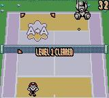 Mario Tennis Game Boy Color Clearing the first level of Target Shot mini-game