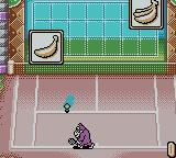 Mario Tennis Game Boy Color Trying to hit the banana pictures