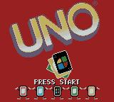 Uno Game Boy Color Title screen