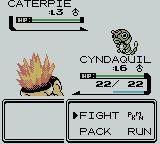 Pokémon Crystal Version Game Boy Color Your usual battle screen