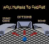 Marble Madness Game Boy Color Menu