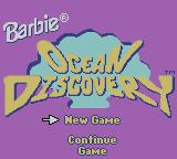 Barbie: Ocean Discovery Game Boy Color Title screen