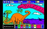 Electric Crayon Deluxe: Dinosaurs Are Forever DOS Apatosaurus was colored (MCGA 256 Colors)