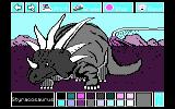 Electric Crayon Deluxe: Dinosaurs Are Forever DOS Styracosaurus was colored (CGA 4 Colors)