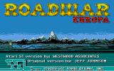 Roadwar Europa Atari ST The title screen