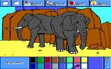 Electric Crayon 3.1: At the Zoo DOS Elefants are colored (VGA 256)