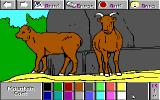 Electric Crayon 3.1: At the Zoo DOS Mountain Goats are colored (Low EGA 16)