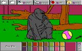 Electric Crayon 3.1: At the Zoo DOS Gorilla was painted (High EGA 16)