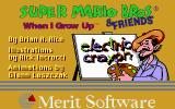 Electric Crayon 3.1: Super Mario Bros & Friends: When I Grow Up DOS Title Screen (VGA 256)