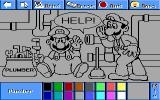 Electric Crayon 3.1: Super Mario Bros & Friends: When I Grow Up DOS Plumber is not painted (VGA 256)