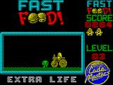 Fast Food ZX Spectrum You get an extra life after 3 levels and it plays a funny animation
