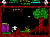 Dizzy: The Ultimate Cartoon Adventure ZX Spectrum The torch is an object that you can pick up and use later