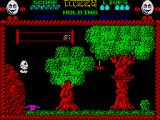 Dizzy: The Ultimate Cartoon Adventure ZX Spectrum The magenta spring allows you to get higher up