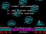 Pro Skateboard Simulator ZX Spectrum Title screen