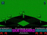 Pro Skateboard Simulator ZX Spectrum Starting out at the top of the hill