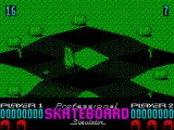 Pro Skateboard Simulator ZX Spectrum Hitting the rocks causes you to crash