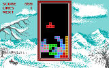 Tetris DOS gameplay (Tandy/PCjr)