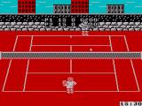 Pro Tennis Simulator ZX Spectrum The score pops up in the bottom corner when a point is earned