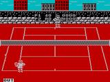 Pro Tennis Simulator ZX Spectrum hitting the ball outside the marker gives the other player a point