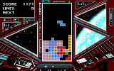 Tetris DOS another of the many backgrounds (Tandy/PCjr)