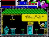 Seymour Goes to Hollywood ZX Spectrum There is a studio key on the table