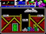 Seymour Goes to Hollywood ZX Spectrum The maze of building at the movie studio