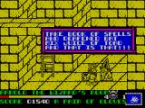 Spike in Transilvania ZX Spectrum The wizzard gives you a list of ingredients he needs for his potion