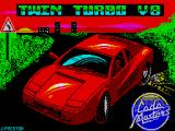 Twin Turbo V8 ZX Spectrum Title screen