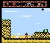 The Young Indiana Jones Chronicles NES A dust mini-tornado, plus, it's raining cannonballs.