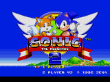 Sonic the Hedgehog 2 Genesis Title Screen