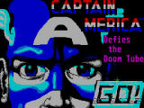Captain America in: The Doom Tube of Dr. Megalomann ZX Spectrum Title Screen