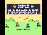 Super Mario Kart SNES Title screen