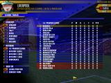 FA Premier League Football Manager 2000 Windows League table