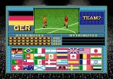 Champions World Class Soccer Genesis Team selection (exhibition mode)