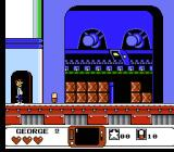 The Jetsons: Cogswell's Caper NES Starting out in the first level.