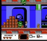 The Jetsons: Cogswell's Caper NES Big flying robots