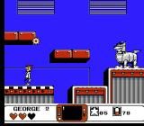 The Jetsons: Cogswell's Caper NES First boss - Sentro, the robot dog