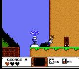 The Jetsons: Cogswell's Caper NES The switch activates the fountain which propels you to new heights.
