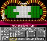 Wheel of Fortune: Family Edition NES The main game screen