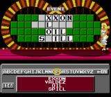 Wheel of Fortune: Family Edition NES Going for the solution.