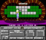 Wheel of Fortune: Junior Edition NES Flipping letters.