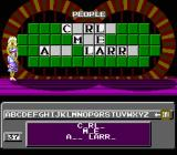 Wheel of Fortune: Junior Edition NES Going for the solution.