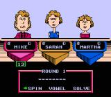Wheel of Fortune: Featuring Vanna White NES The players