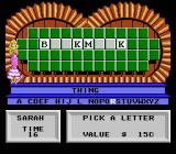 Wheel of Fortune: Featuring Vanna White NES Pick a letter.