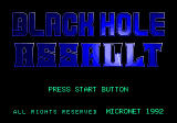 Blackhole Assault SEGA CD Title screen