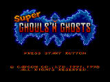Capcom Generations PlayStation Disc 2 - Super Ghouls 'n Ghosts: Title screen