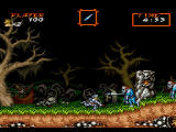 Capcom Generations PlayStation Disc 2 - Super Ghouls 'n Ghosts: Killing zombies in the graveyard.