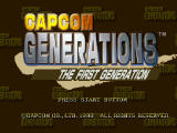 Capcom Generations PlayStation Disc 3 - The First Generation: Title screen