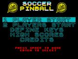Soccer Pinball ZX Spectrum Title screen
